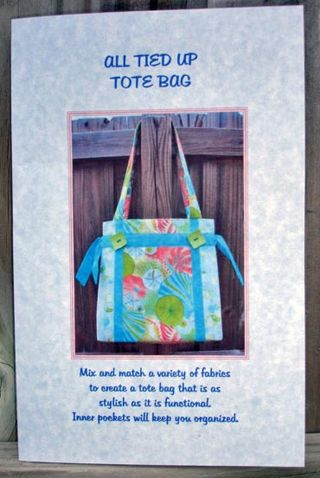 Pattern Tied Up Tote Bag
