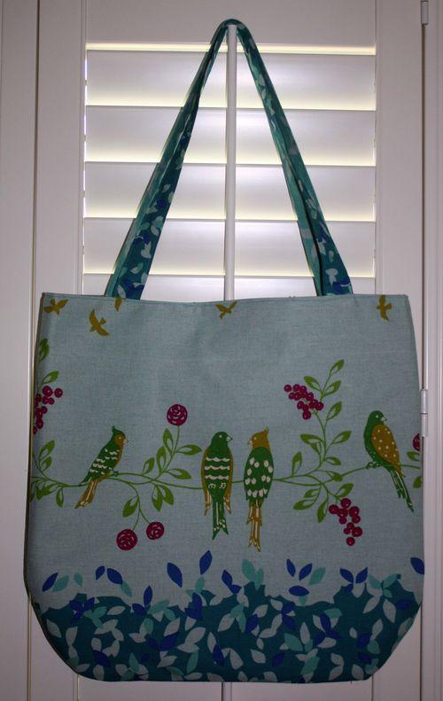 Linen Bird Bag