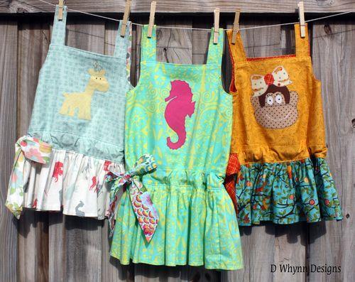 Three Applique Dresses