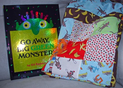 Monkey_quilt_and_book_2